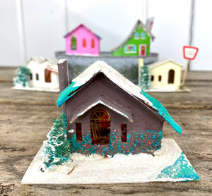 "Copy of Vintage Cardboard ""Putz"" Style Christmas Houses"