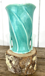 Load image into Gallery viewer, Vintage McCoy Pottery Aqua/Turquoise Double Handle Vase