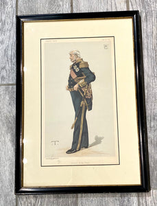 "Antique Vanity Fair ''Admiral of the Fleet"" 'Théobald Chartran' Chromolithograph Print"
