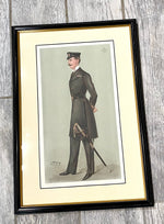 "Load image into Gallery viewer, Antique Vanity Fair ''A Prince of Denmark"" 'Spy' Chromolithograph Print"