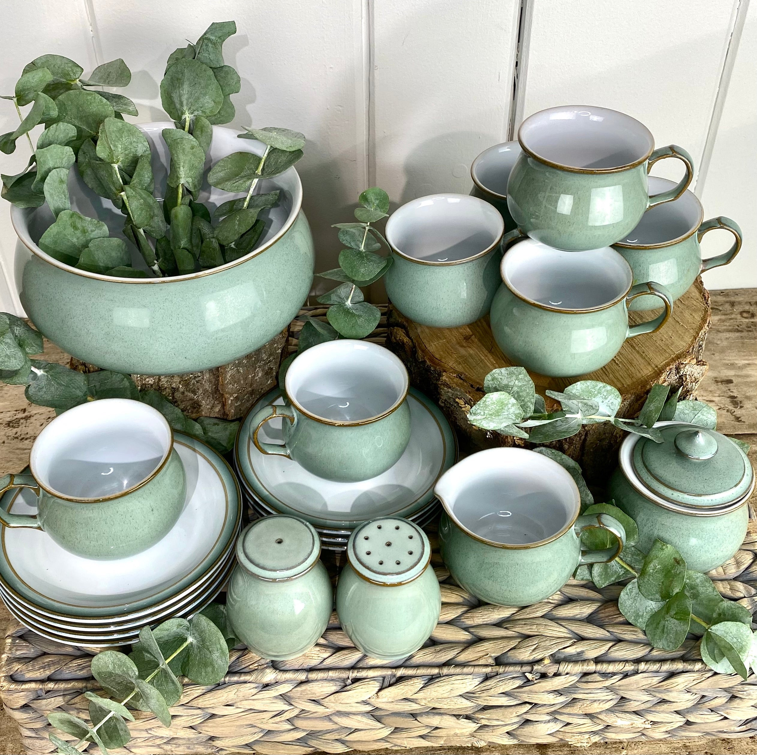 Beautiful Denby Regency Green Set