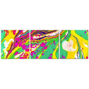 Marbled Triptych Canvas - Liquid Dream