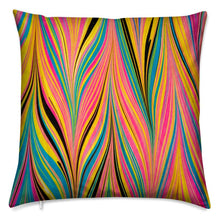 Load image into Gallery viewer, Marbled Cushion - Peacock