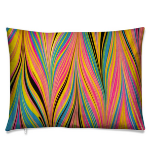 Marbled Cushion - Peacock