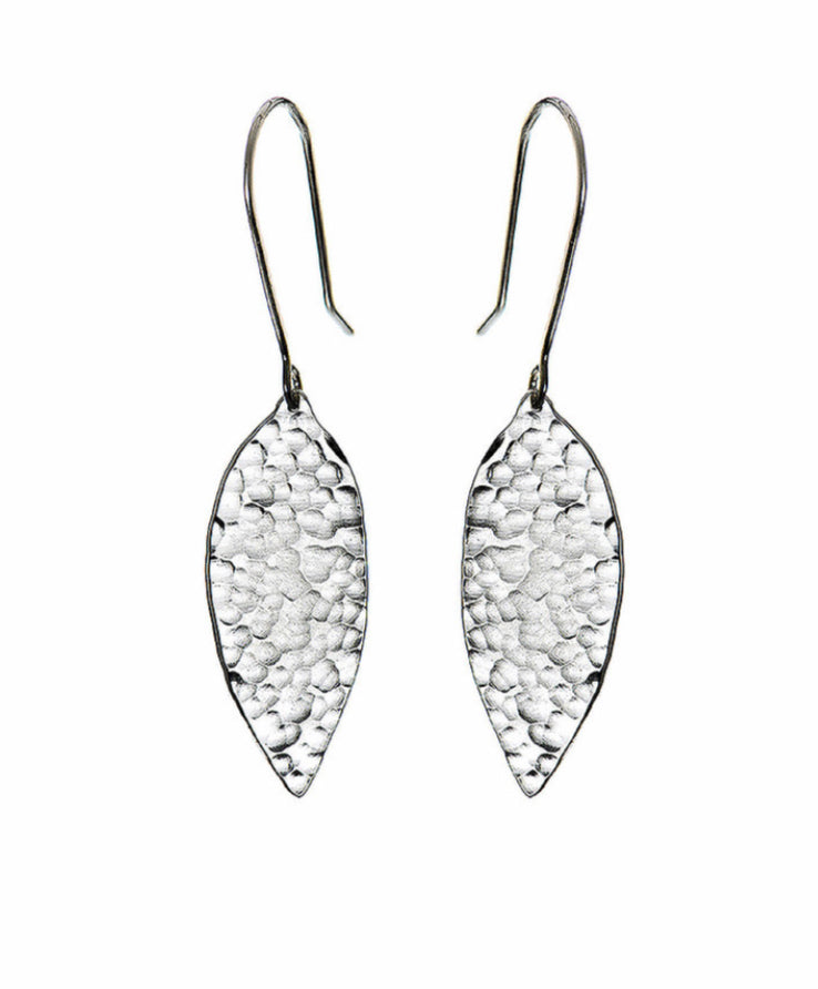 Just Trade Silver Leaf Earrings