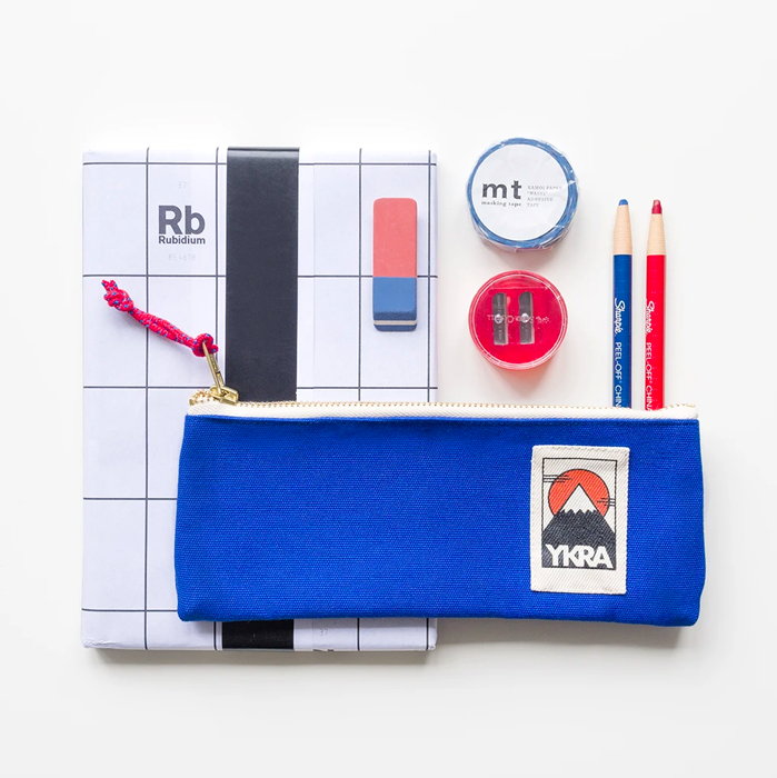 Ykra Pencil Case Blue