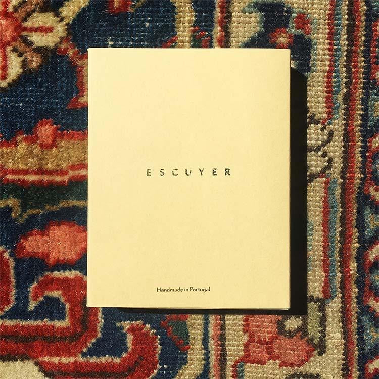 Escuyer Navy Khaki Leather Card Holder