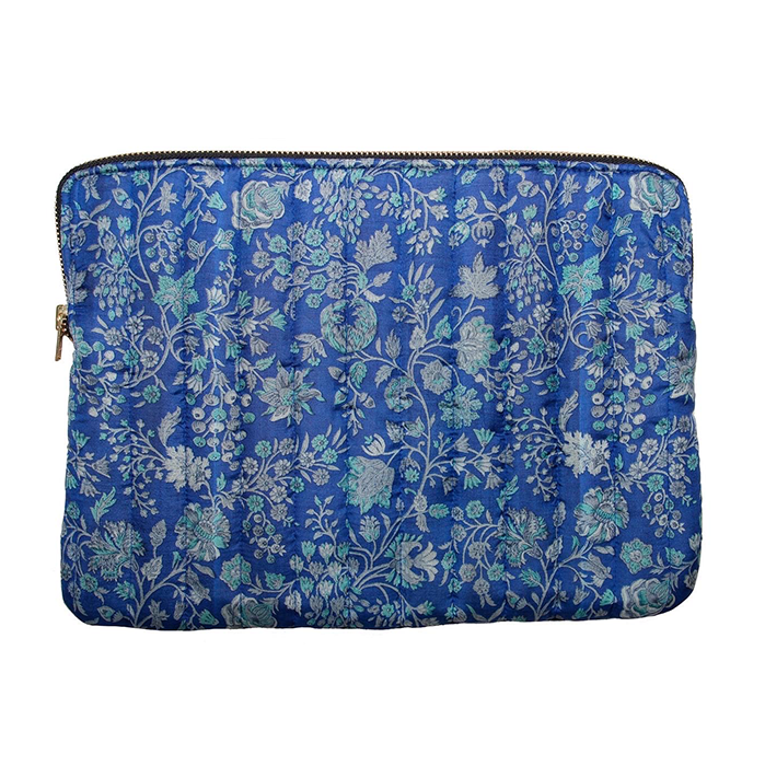 Ellies And Ivy Blue Floral Laptop Cover