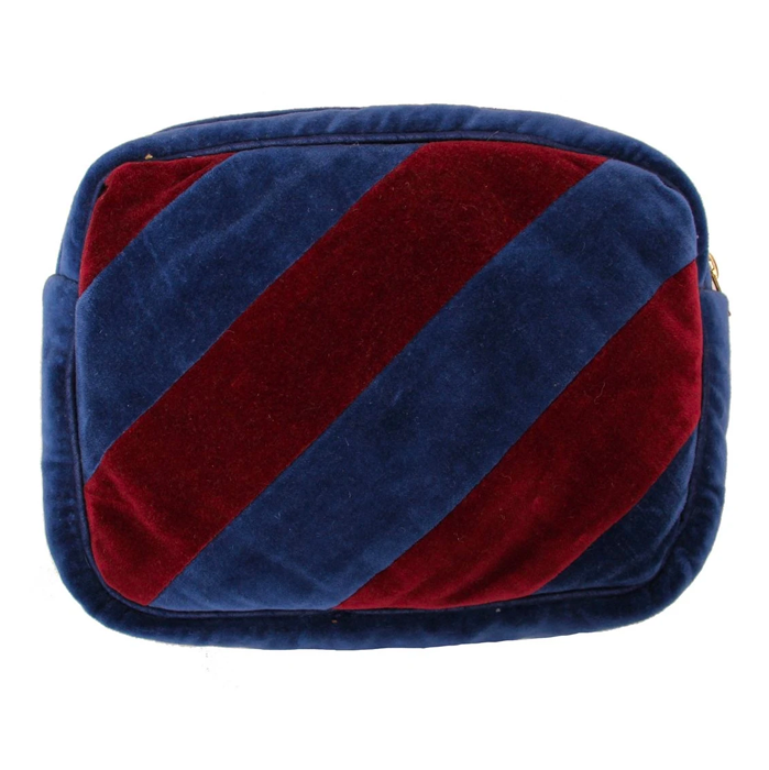 Ellies and Ivy Navy Bordeaux Make Up Bag