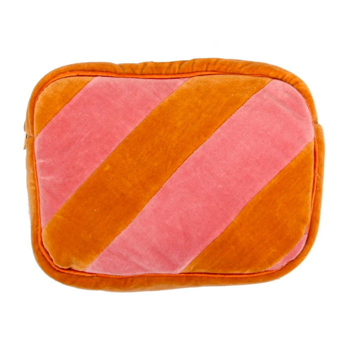 Ellies and Ivy Nova Pink Orange Make Up Bag