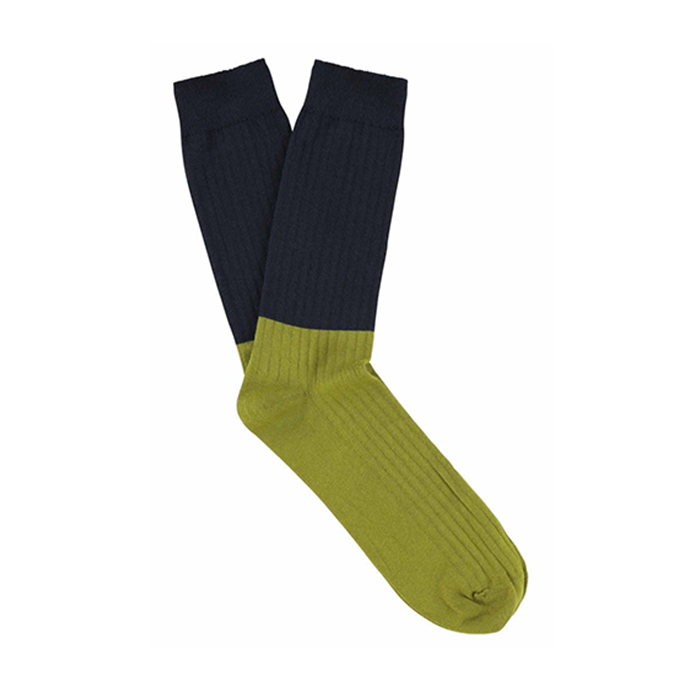 Escuyer Blueberry Fir Green Rib Socks
