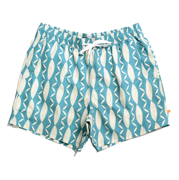 Far Afield Conch Sagebrush Green Swimshorts