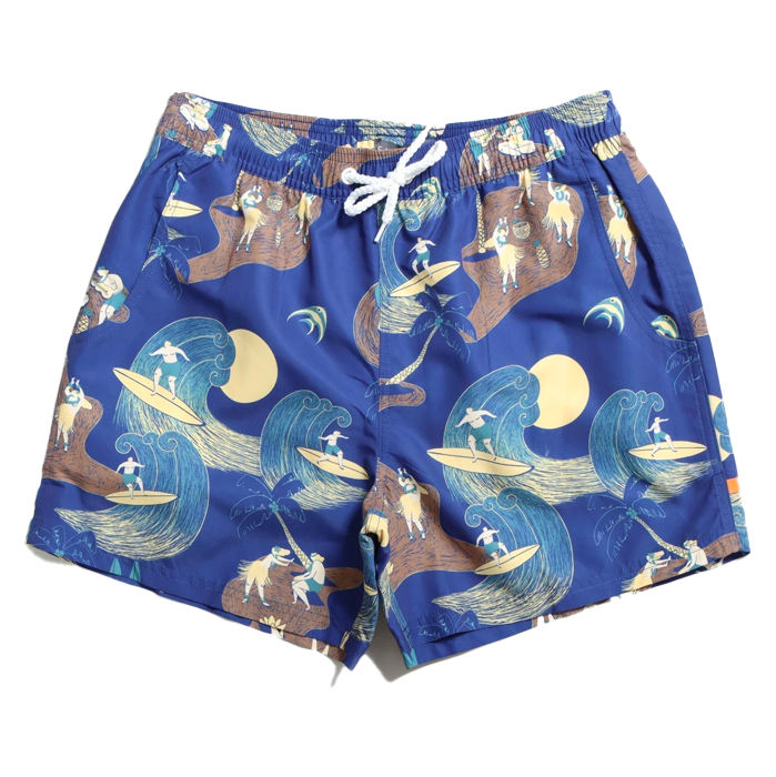 Far Afield Surf Story Swimshorts