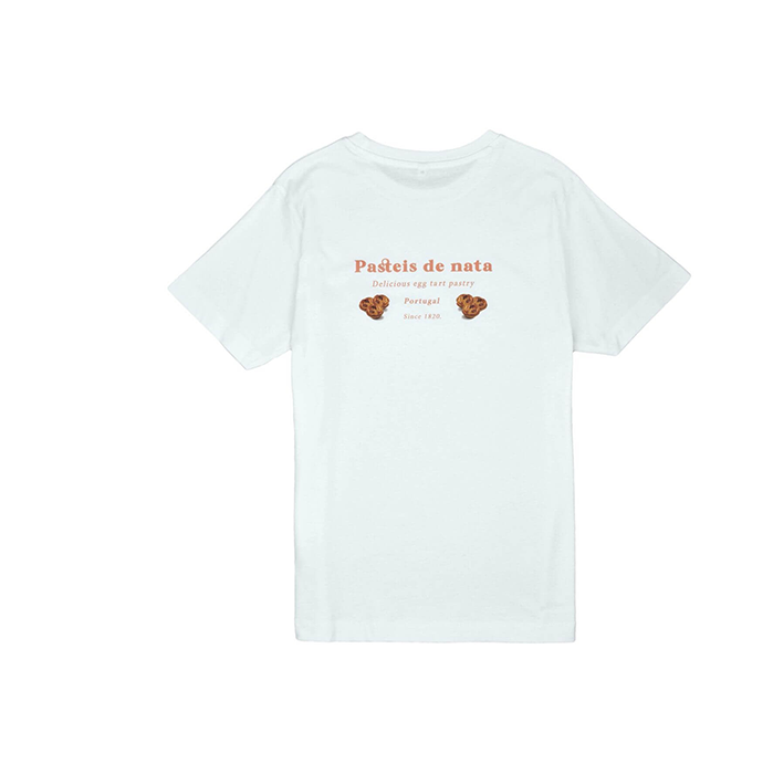 Pair of Peaches Pasteis De Nata White Tshirt