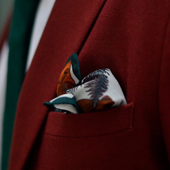 20 Seventh Letter  Bear Pocket Square