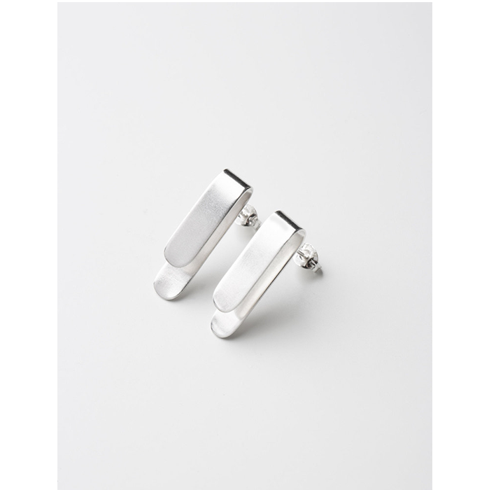 Studio Adorn Sterling Silver Fold Clip Earrings