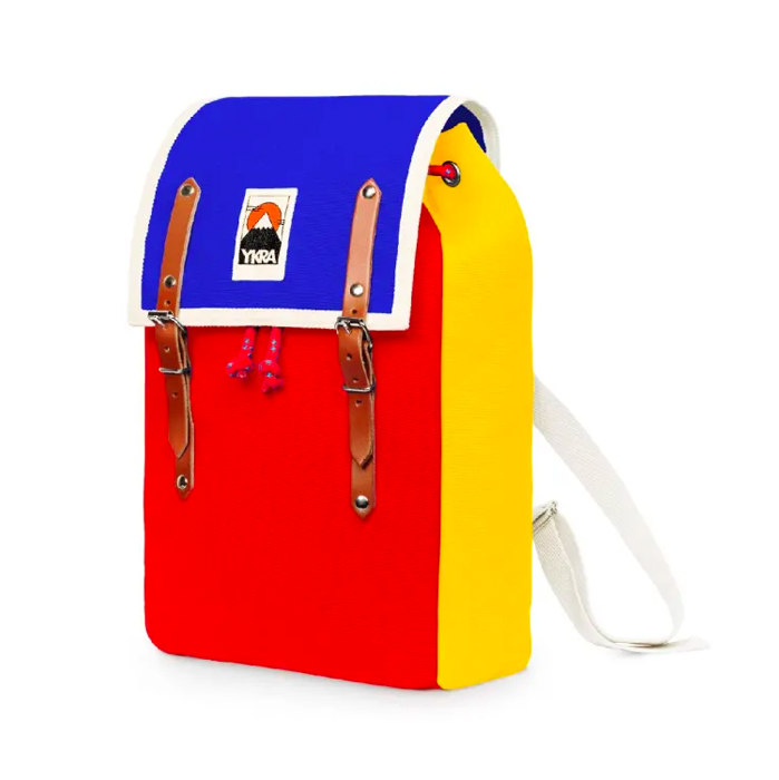 Ykra Matra  Red Yellow Blue Backpack