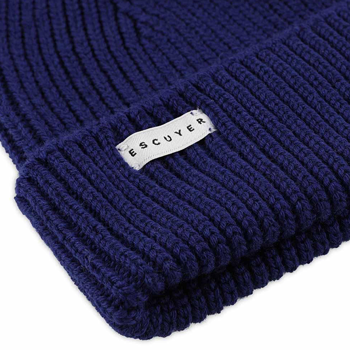 Escuyer Merino Wool Beanie Blue Hat