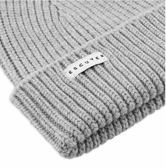 Escuyer Merino Grey Beanie Hat