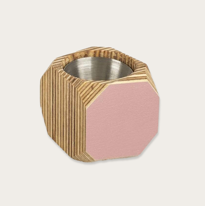 Priormade Pink Large Wood Vessel Pot