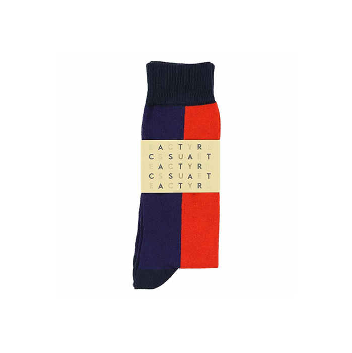 Escuyer Block Navy Red Socks