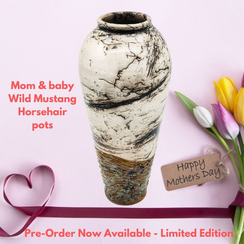 Mothers Day Special Edition Wild Horse Hair Pots