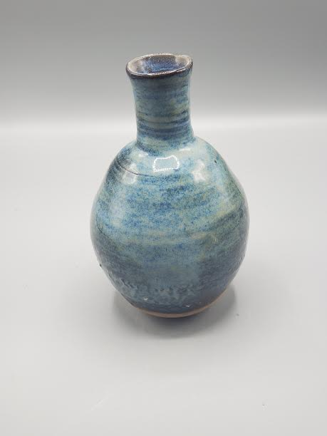 Blue OBX Region Clay Vase