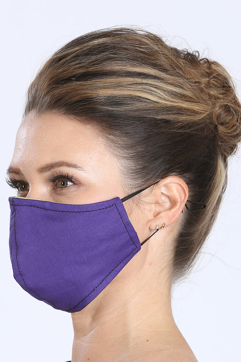 Face Mask - Purple/Lime