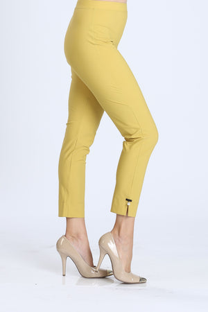 Mustard Plus Size Pearl Detail Ankle Pants