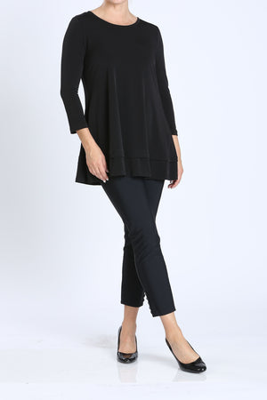 Plus Size Bottom Tuck Detailed Long Tunic