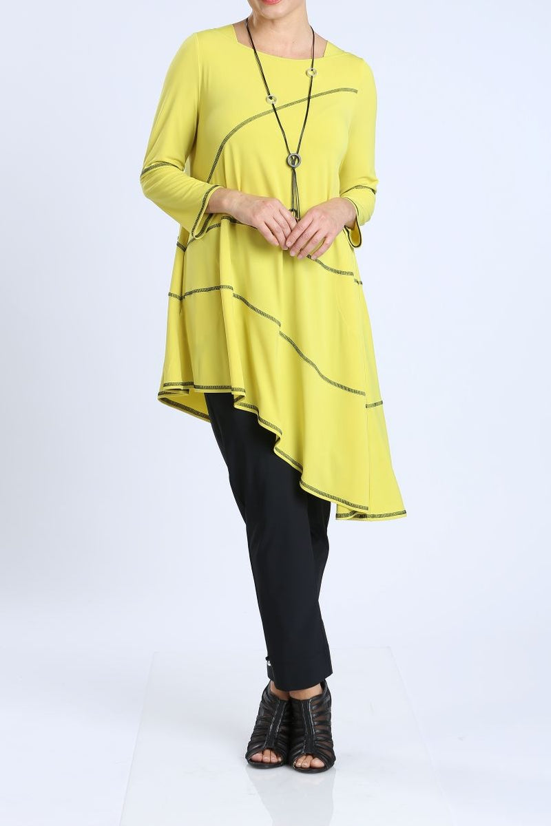 Plus Size Square Neck Lemon Tunic