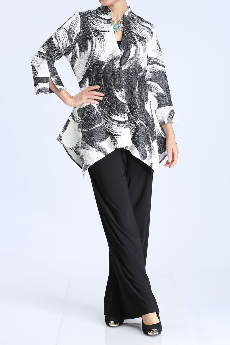 Plus Size Tornado One Button Long Jacket