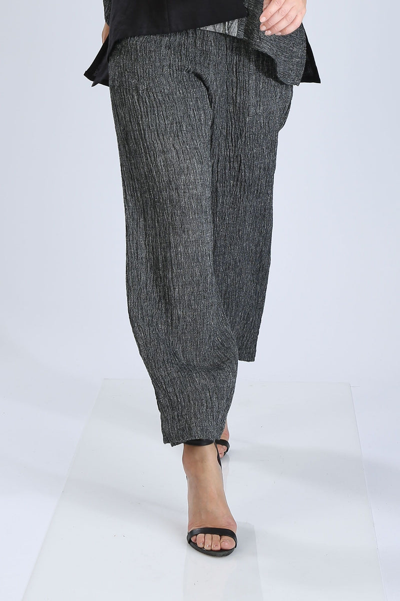 Plus Size Charcoal Textured Pants