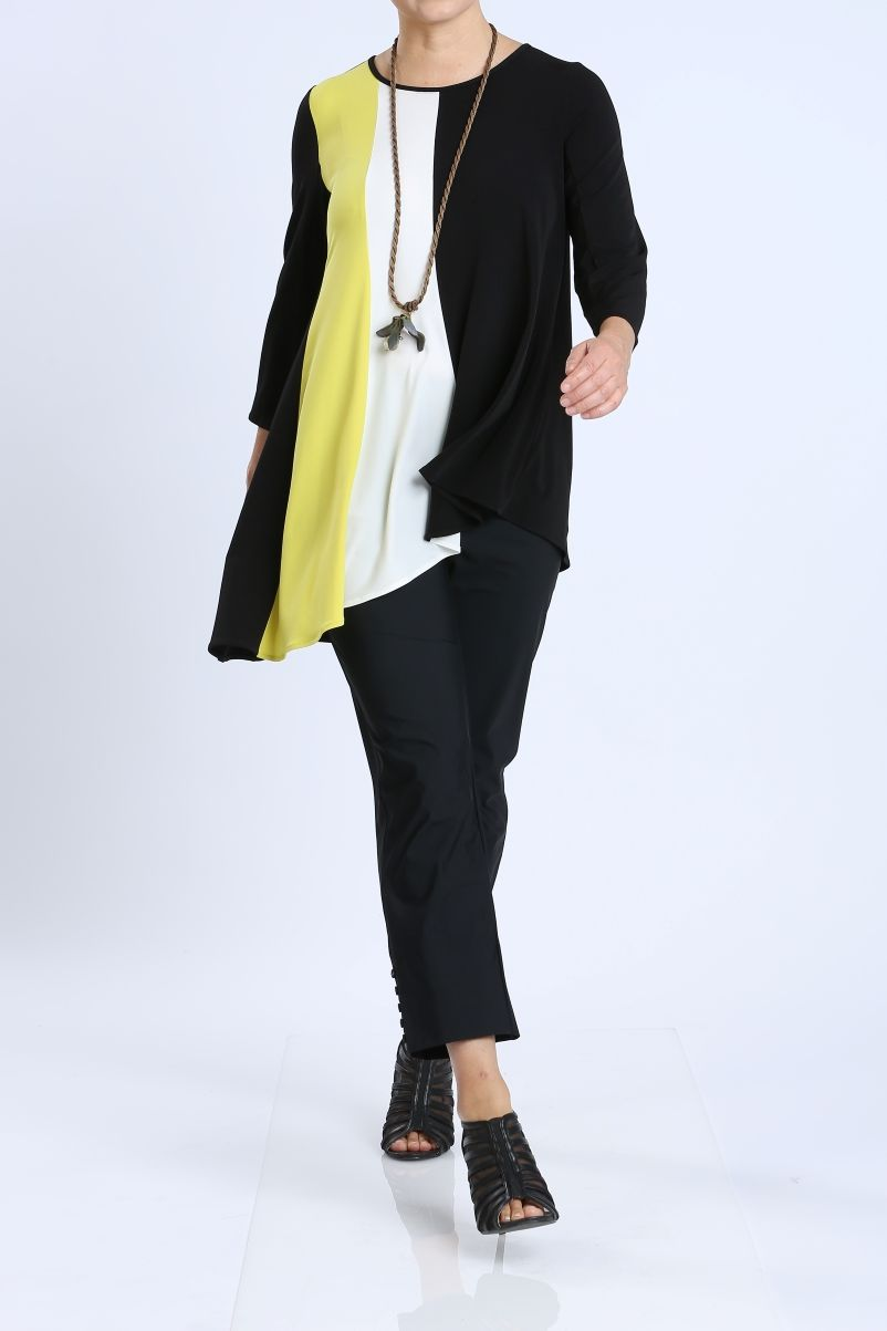 Plus Size Color Block Tunic