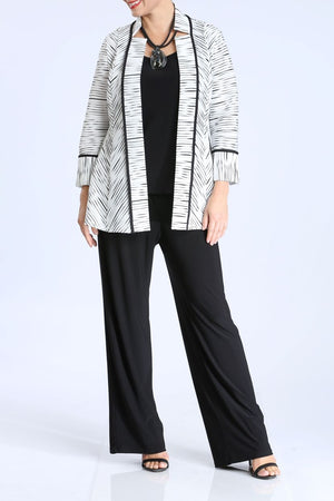 Striped Open Front Jacket