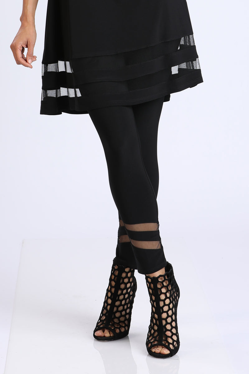 Plus Size Mesh Contrast Leggings