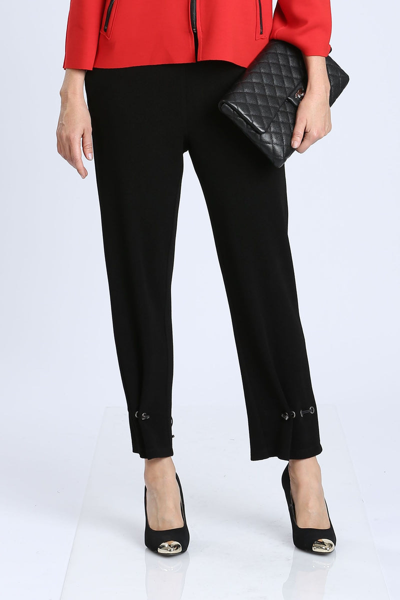 Plus Size Black Draw String Pants