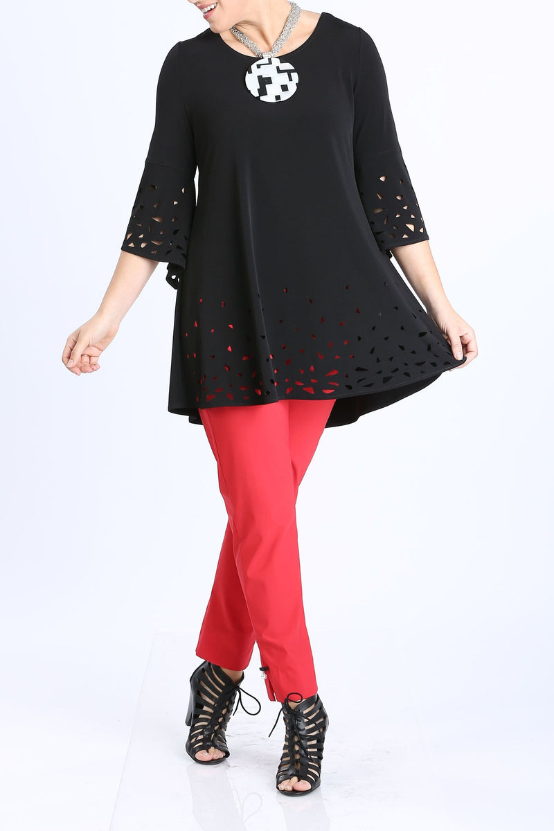 Plus Size Cut-Out Flair Tunic
