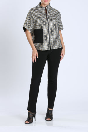 Short Sleeve Zip-Front Jacket