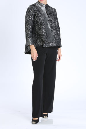 Rosa Jacquard One Button Jacket