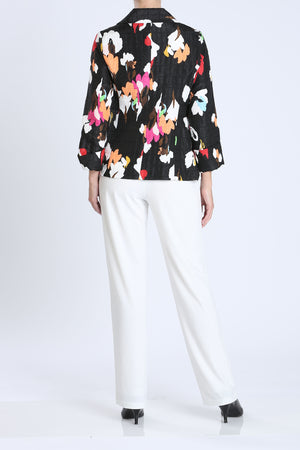Red Floral Knot Front Jacket