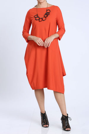 Long Sleeve Boatneck Shift Dress