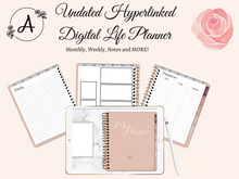 Load image into Gallery viewer, Undated Pink Life Planner