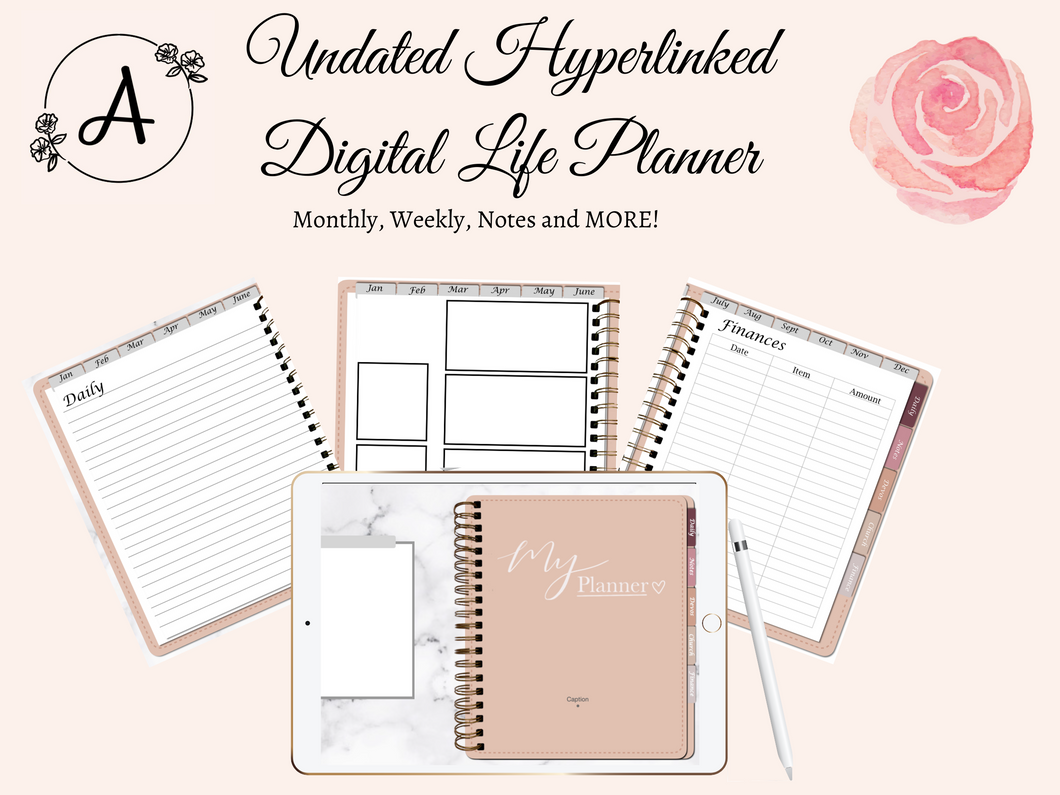 Undated Pink Life Planner