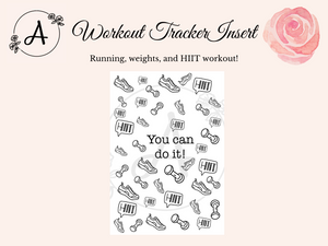 Workout Tracker Digital Insert