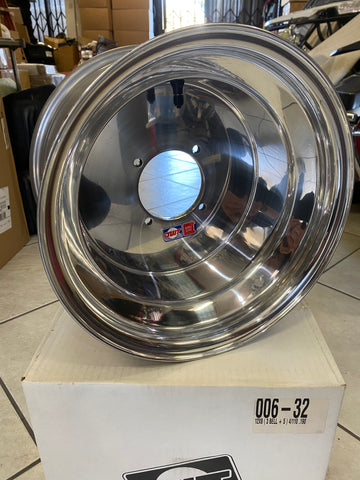 "DWT 12"" Polished Yamaha Rhino UTV Wheel 12x8"