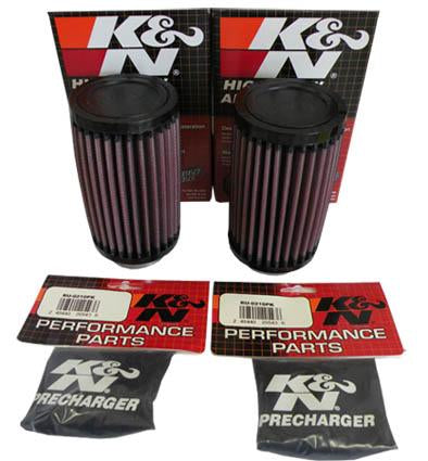 K&N Air Filters with Black Outerwears (Pair)