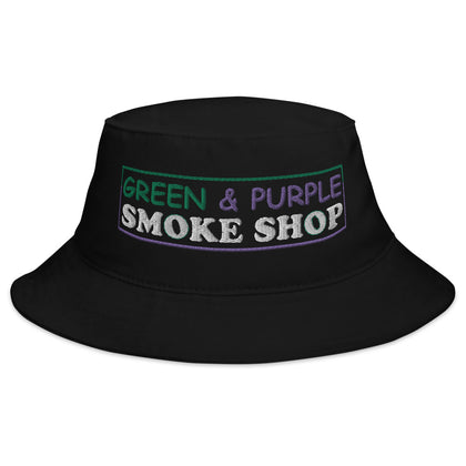 """Green & Purple Smoke Shop"" Bucket Hat"