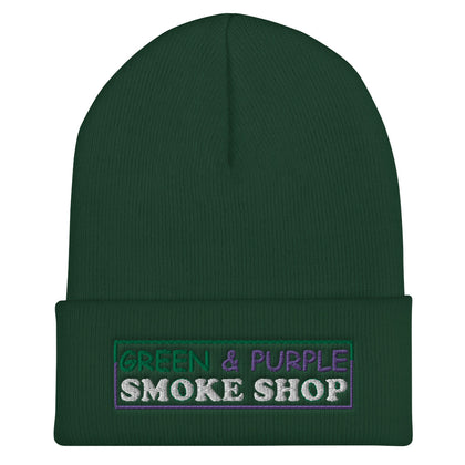 """Green & Purple Smoke Shop"" Cuffed Beanie"