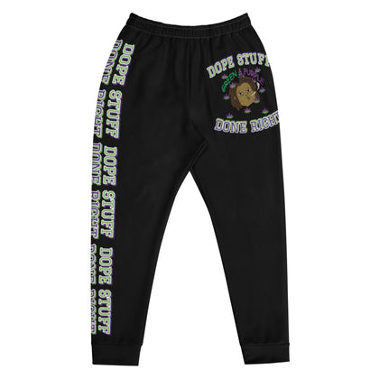 """Dope Stuff Done Right X Big Head"" Men's Black Joggers"